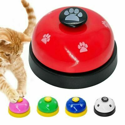 New Pet Call Bell For Feeding Ringer IQ Training Squeak Interactive Belling Toys • 3.93£