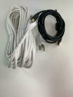[UL] WHITE [30FT] AC Cord+(8FT) 2.0 USB Cable For Mixars DUO MKII • 17.79£