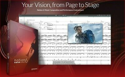 25% Off Notion 6! Make Beautiful Sheet Music With High Quality Audio! • 94.34£