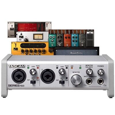 TASCAM SERIES 102i USB/Optical/MIDI 10x2 Digital Interface With FX & Software • 311.51£