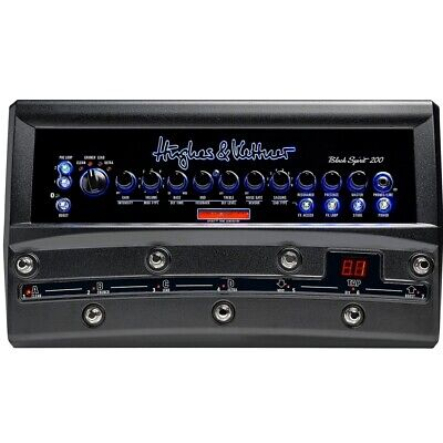 HUGHES & KETTNER BLACK SPIRIT 200 FLOOR Switchable 4-Channel Amp With Remote App • 850.76£