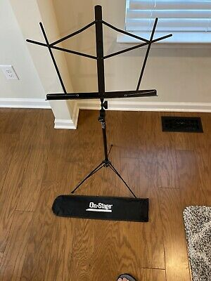 On-Stage Stands Compact Sheet Music Stand Black • 11.49£
