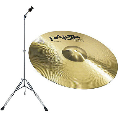 Paiste 101 Messing 16 Crash + Cymbal Stand Straight LYD-25 • 74.90£