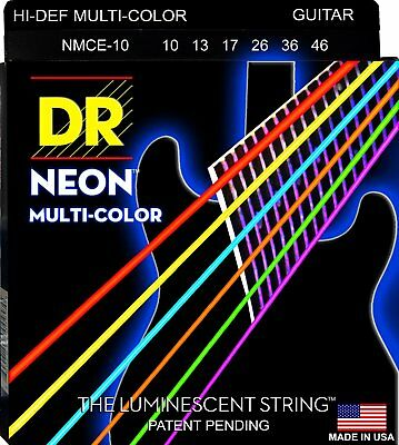 DR NMCE-10 Neon Hi-Def Multi-Color Electric Strings 10-46 • 13.20£