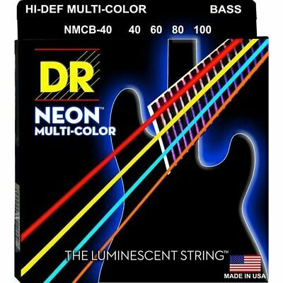 DR NMCB-40 Neon Hi-Def Multi-Color 4-String Bass Strings 40-100 • 38.50£
