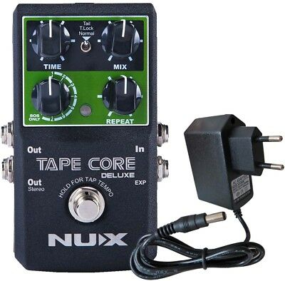 Nux Tape Core Deluxe Effects Unit Delay Pedal+Keepdrum 9V Power Supply • 87.58£
