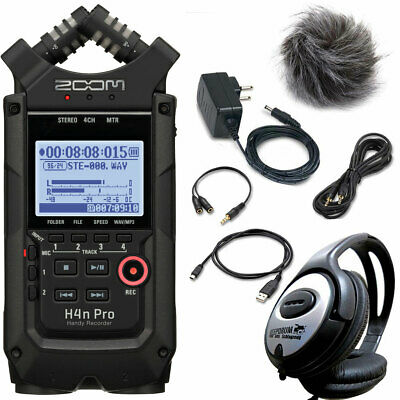 Zoom H4n Pro Recorder +APH4n Accessory Set + Keepdrum Headphones • 298.52£
