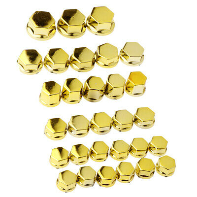 30 Pieces Motorcycle Screw Nut Bolt Cap Cover Decoration For Yamaha  Golden • 2.51£