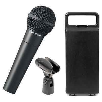 Behringer XM8500 Vocal Microphone - Mic Clip & Plastic Carry Case Bundle • 26.99£