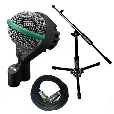 AKG D112MKII Bass Drum Microphone W/Goby Labs Kick Mic Stand 20' XLR Cable • 167.13£