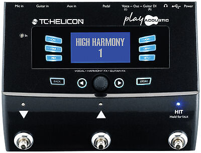 TC HELICON Play Acoustic Vocal FX And Guitar FX Pedal TC082 • 305£