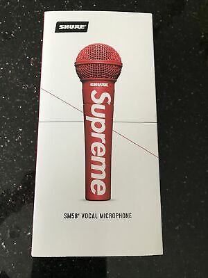 Supreme Shure Vocal Mic SM58® Vocal Microphone Red Mic - In Hand • 375£