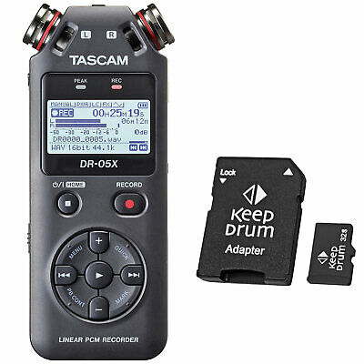 Tascam DR-05X Recorder Dictaphone + Keepdrum Micro SDHC Memory Card 32 GB • 97.34£