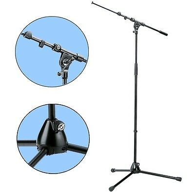 K&M 210/9 Microphone Tripod Black With Telescoping Boom • 54.72£