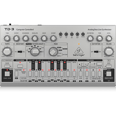 Behringer TD-3 Analog Bass Line Synthesizer - Silver • 139.99£