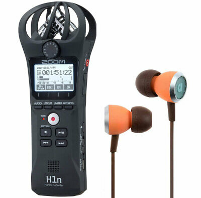 Zoom H1n Recorder Dictaphone + Audiofly In-Ear Earphones • 109.98£