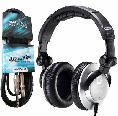 Ultrasone PRO780I Studio Headphones Closed + Keep Drum Extension Cable 3M • 152.76£