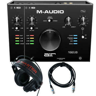 Home Recording M-Audio Air 192-8 Pro-Tools First + Mic Cable + Headphones • 167.75£
