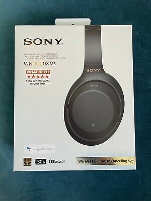 Sony WH-1000XM3 Wireless Noise Cancelling Headphones - Black - Used • 180£