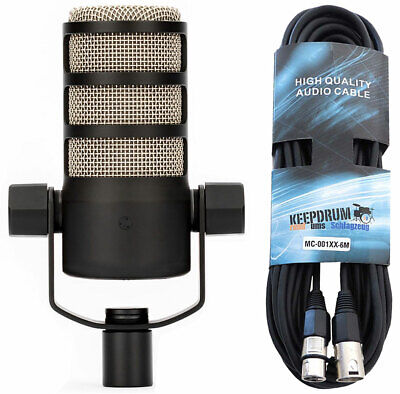 Rode Podmic Professional Dynamic Podcast-Mikrofon + Keep Drum XLR Cable • 121.09£