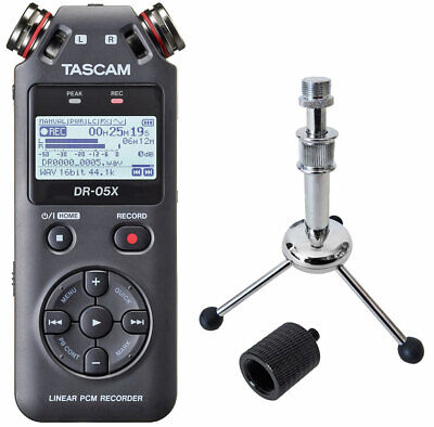 Tascam DR-05X Recorder Dictaphone + Keepdrum Tripod + Tripod Adapter • 104.34£