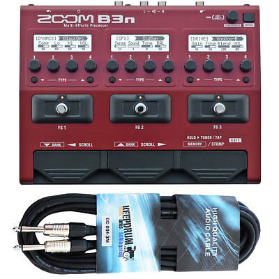 Zoom B3n Multi Effect Unit For Bass + Keepdrum Cable 3M • 165.93£