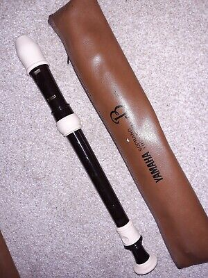 Yamaha Soprano YRS - 302BII Brown And Cream Descant Recorder With Case • 2£