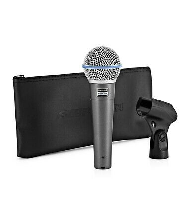 Shure BETA 58A Supercardioid Dynamic Vocal Microphone, Silver • 129.25£