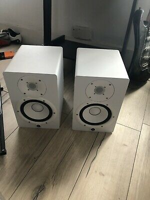 Yamaha HS7 Powered Studio Monitor Speakers - White (Pair + Cables + M-audio 2x2m • 200£