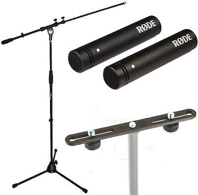 Rode M5 Mp Microphone Set + K&M Stereo BAR 23550+ Keep Drum Microphone Stand • 185.04£