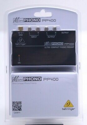 Behringer Ultra-Compact Phono Preamp Micro Phono PP400 - NEW • 23.04£