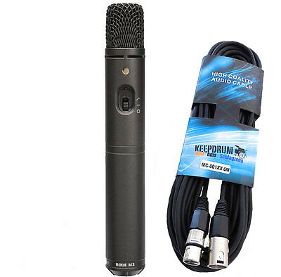 Rode M3 Condenser Microphone + Keepdrum Microphone Cable • 100.54£