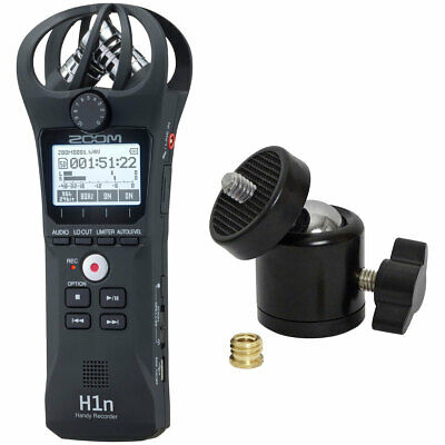 Zoom H1n Mobile Phone Recorder Dictaphone + Keepdrum Ball Joint Tripod Adapter • 104.34£
