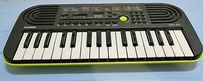 CASIO SA-46 32 Mini-Keys Keyboard In Green With UK Power Cable, PIANO T&W • 28.99£