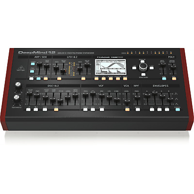 Behringer DEEPMIND 12D - Analog 12-Voice Polyphonic Desktop Synthesizer • 599£