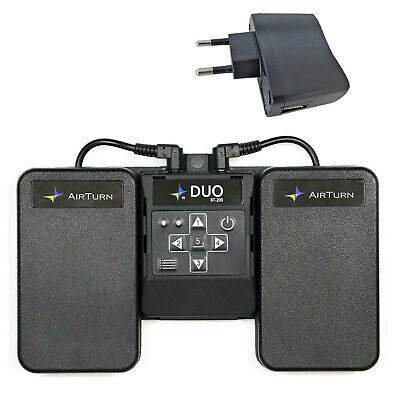 AirTurn DUO BT-200 Multifunktionaler Bluetooth Fußschalter + Keepdrum Netzteil • 85.66£