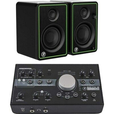 Mackie Big Knob Studio Monitor Controller And Interface W/ CR3-X Speakers (Pair) • 251.71£