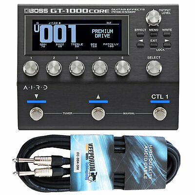 Boss GT-1000 Core Multi Effect Unit + Keepdrum Jack Cable • 519.56£