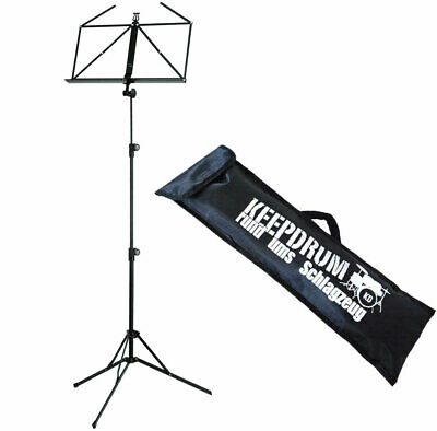 K&M 100/5 Music Stand Black + Keepdrum Bag • 24.27£