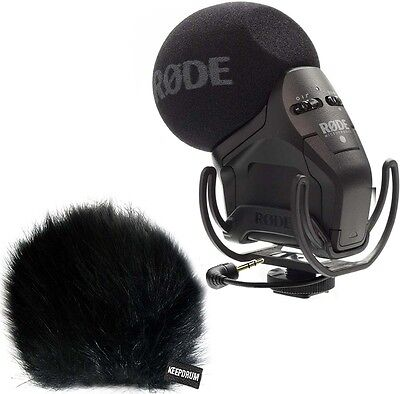 Rode Svmpr Stereo Videomic Pro Rycote Camera Microphone + Keepdrum Wsbk Wind • 180.47£