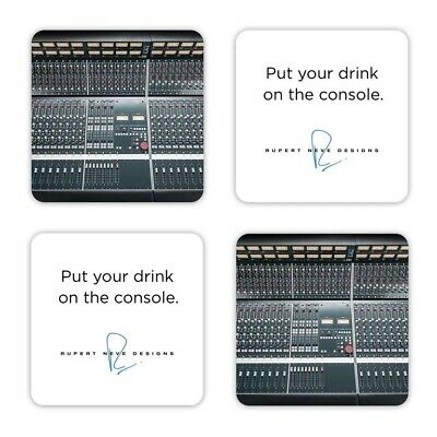 New Rupert Neve Designs 'Put Your Drink on the Console' Coasters (Set of 4)