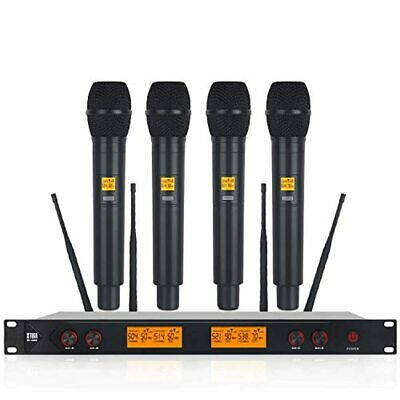 XTUGA A400 Metal Material 4-Channel UHF Wireless Microphone System With 4 Hand-h • 224.68£