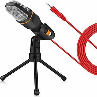 ZeroPlusOne® PC Microphone With Mic Stand, Professional 3.5mm Jack Recording Co • 43.46£