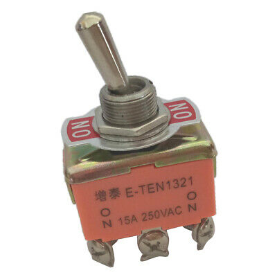 AC 250V 15A ON/ON 2 Positions 6 Pin Rocker Toggle Switch DPDT • 3.13£