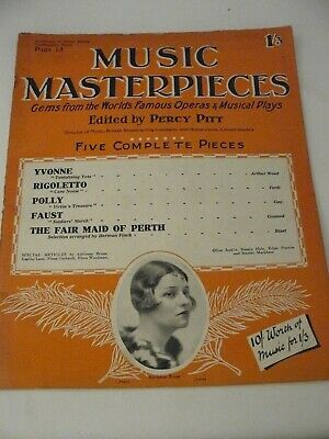 1925 Music Masterpieces Part 13: Incl. Rigoletto, Faust, The Fair Maid of Perth