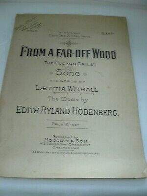 1921 sheet music: From A Far-Off Wood (The Cuckoo Calls!). Withall/Hodenberg