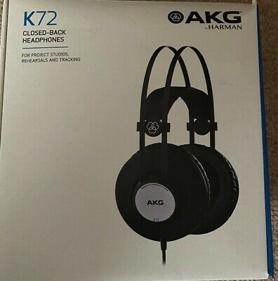 AKG K72 Closed-Back Headphones- With Free Replacement Ear Cushions • 25£