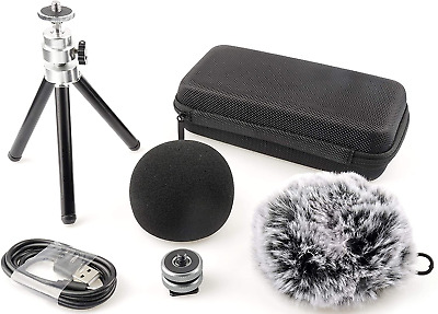 Smangto MP-1N Accessory Pack for Zoom H1N TASCAM DR-05X Portable Recorder, Inclu