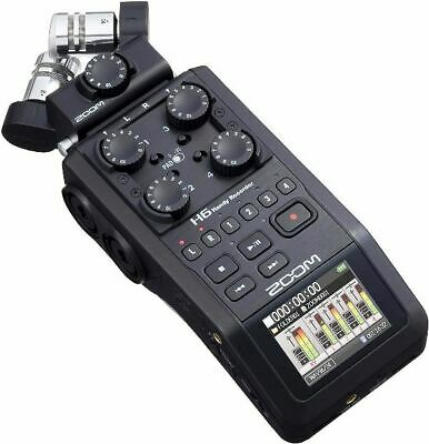 Zoom H6 All Black 6-Track Portable Recorder, Stereo Microphones 4 XLR/TRS Inputs