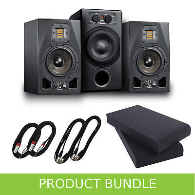 Adam Audio 2.1 System - A5X Monitors & Sub7 with Pads & Cable